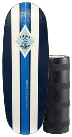 """INDO BOARD Pro Balance Board with Roller - Surf Classic Design - for Surfers, Snowboarders, SUP, Fitness - 42"""" X 15"""" Deck and 8.5"""" Diameter Pro Roller - Perfect for Tall Riders"""