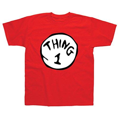 T-Shirt für Erwachsene & Kinder, inspiriert von Ein Kater macht Theater, mit dem Aufdruck: Thing 1 Gr. XX-Large, rot