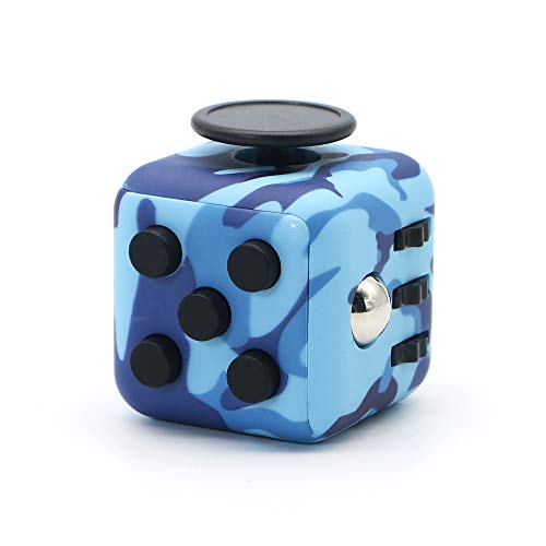 Appash Fidget Cube Stress Anxiety Pressure Relieving Toy Great for Adults and Children[Gift Idea][Relaxing Toy][Stress Reliever][Soft Material] (Camouflage Blue)
