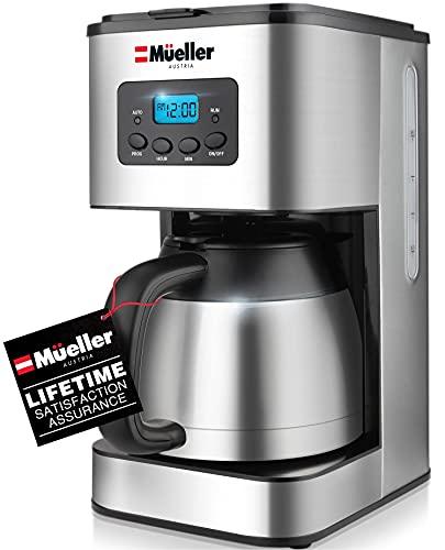 Mueller Austria Ultra Brew Thermal Coffee Maker, 8 cup (34oz) Carafe, Keep Warm, Auto Shut-Off, LCD...
