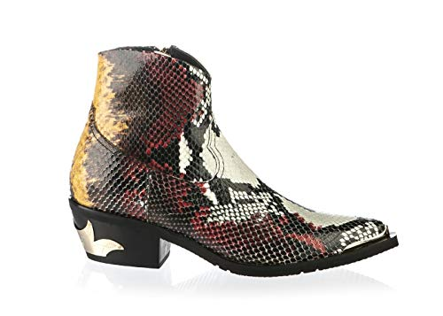 Baldinini 6819 Multicolored Piton Leather Cowboy Italian Designer...