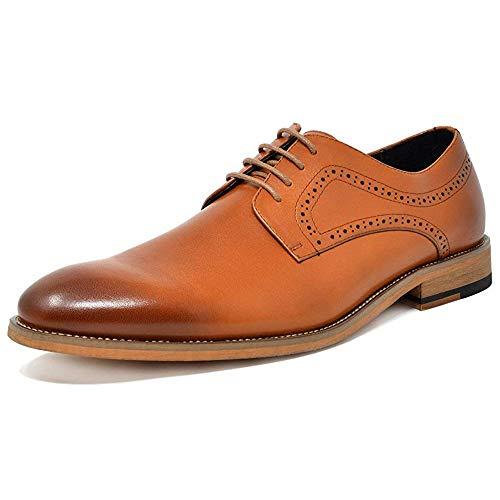 Bruno Marc Waltz-2 Hombre Zapatos de Cordones Cuero Vestir Oxford Formales Wingtip Marrón 41 EU/8 US