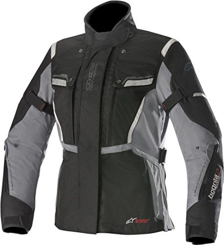 Alpinestars Chaqueta moto Stella Bogota V2 Drystar Jacket Black Dark Gray, Negro/Gris, XL