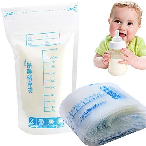Moedermelk Opbergtassen, 30 Stks 250ml Melk Vriezer tassen, Wegwerp Veilige Melk Vriezer Tas Handige Melk Opslag Tassen voor Borstvoeding