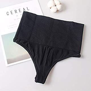Slim Figure Shapewear Waist Slimming Body Sculpting Underwear Female Waist Coach Tummy Control of Seamless Shapewear Shaping Underwear Thong ryq (Color : Black, Size : XXXL)