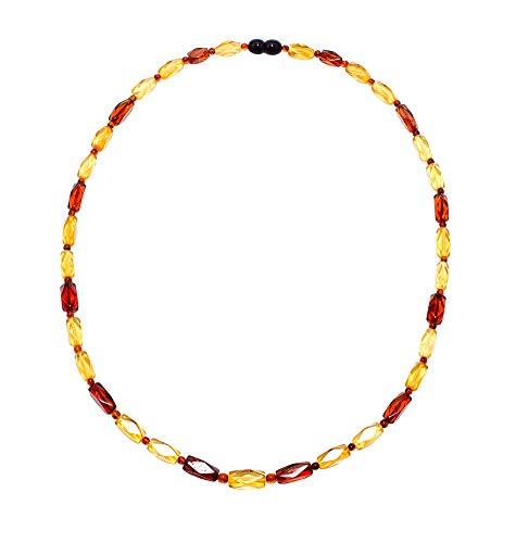 rainbow safety Collar de Ambar Báltico para Mujer Cuentas de Auténtica Ámbar (CA13556853)