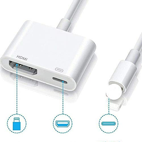 1080P USB a Digital AV TV HDMI Cable adaptador para iPad Air Apple iPhone Xr 12