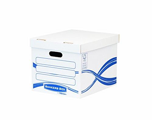 Bankers Box 4460801 Standard Archivbox, 100% recycelt, 10-er Pack