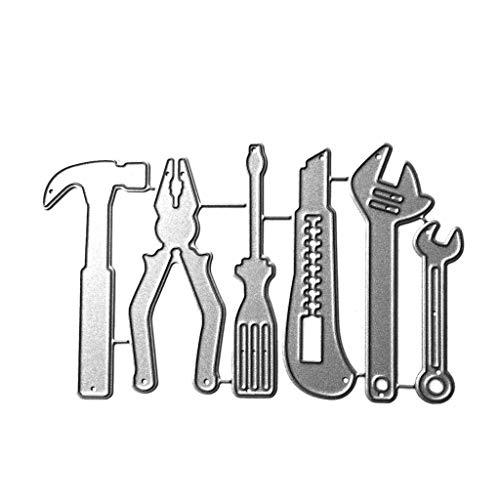 Cansenty Besteck DIY Handwerk Stanzform Kreis DIY Metall Stanzschablone Scrapbooking Foto Album Stempel Papier Karte Basteln Dekoration