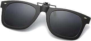 8714b759f5 Flydo Polarizadas Clip en Gafas de Sol Marco Plástico con clip  Unisex-Elegantes y cómodos