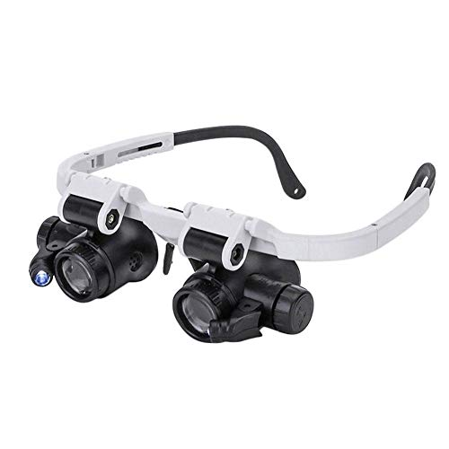 8X/15X/23X Juwelierlupe Uhrmacherlupe Lupe Kopfband Brille Lupenbrille LED Licht Reparatur