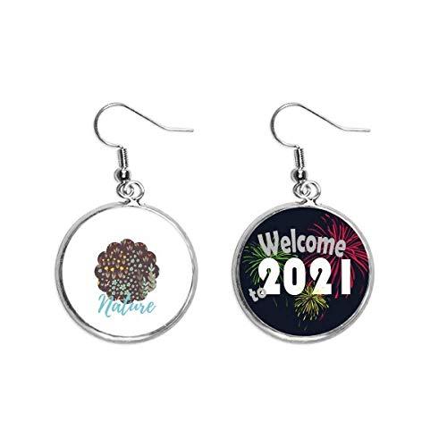 Pendientes de la flor de la hoja marrón pintura pendiente pendiente joyería 2021 bendición