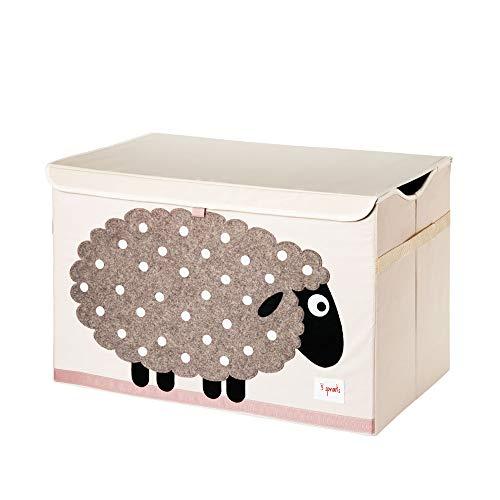 3 Sprouts Kids Toy Chest - Baúl de almacenamiento para habitación de niños y niñas, ovejas