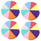 Ziyero 32 Piezas Cesponja Cuñas Esponjas Triangulares Herramienta Cuñas de Maquillaje Base Para Polvo Suelto, Sombra de Ojos en Polvo, Base líquida, Crema BB, Corrector de Protección Solar, Etc