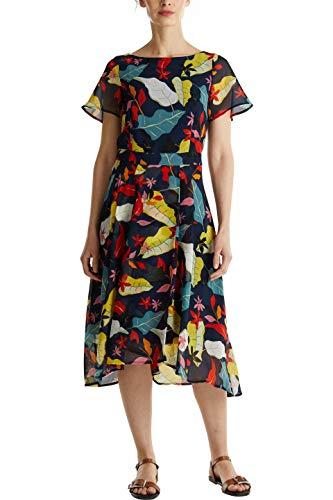 ESPRIT Collection Damen Esprit Kleid, 050EO1E317, Blau (403), 36
