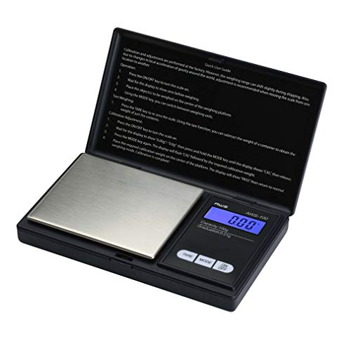 AWS Series Digital Pocket Weight Scale 100g x 0.01g, (Black), AWS-100-Black