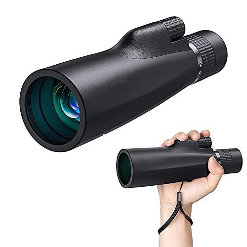 MWKL Telescopio monocular, 10-30X50 HD de un Solo Tubo Profesional FMC Lente óptica Impermeable, para Eventos Deportivos, con Soporte y trípode