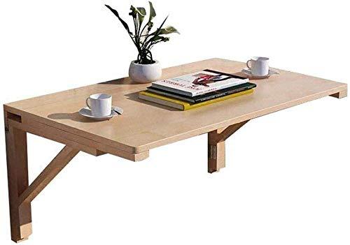 N Un caso de Office / Home Office escritorio de trabajo plegable de pared Mesa de madera maciza de aprendizaje Escritorio Mesa de comedor simples de la computadora de escritorio cojinete 45kg madera 5
