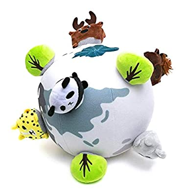 "OK!DZO 8"" Around The World Animal Soft Ball Plush Developmental Toy Set (13 pcs)- Cognitive & Motor & Social Skills- Fun Bright Colors & Textures for Babies 0-36 Months"