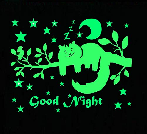 DreamKraft Good Night Star Radium Glow in The Dark Wall Stickers Perfect for Kids Bedding Room or...