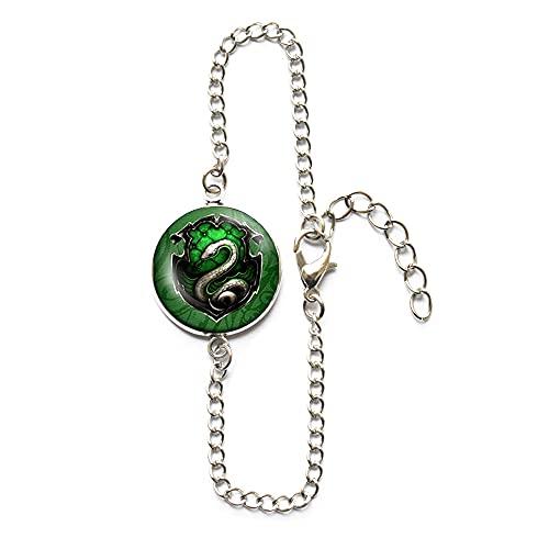 Pulsera inspirada en la película de las reliquias de la muerte Steampunk serpiente brazalete para mujer joyería de cristal para hombre, PU193
