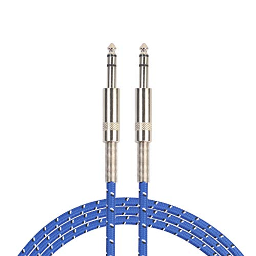 Fazeer Azul Cable De Guitarra Trenzada Guitarra Eléctrica Sonido De Instrumento Profesional Micrófono De Audio Cable Para Guitarra Eléctrica Bajo Teclado Estéreo