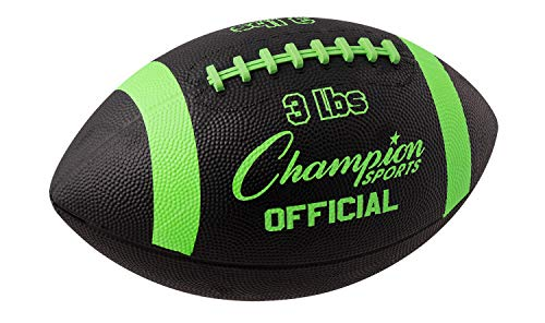 Champion Sports Official Sized Football Trainer, 3-Pound, Black/Green