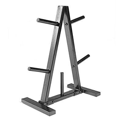 CAP Barbell Black/Red Tree Storage Rack for Weights and Bar