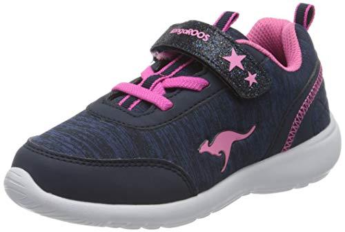 KangaROOS KC-Citylite EV Unisex Baby Sneaker, Blau (Dark Navy/Daisy Pink 4204), 30 EU