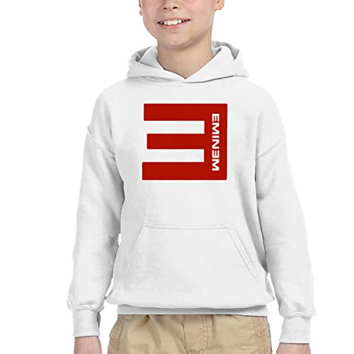Children's Hooded Pocket Sweater Eminem Simple Personality Wild White 2T