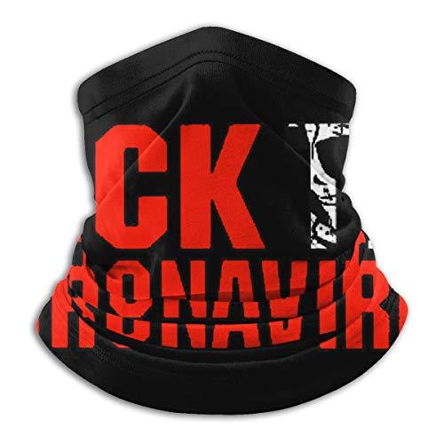 Fuck The C-Oronavirus Microfiber Neck Warmer Scarf Gaiter Headwear Face Mask Bandanas Black