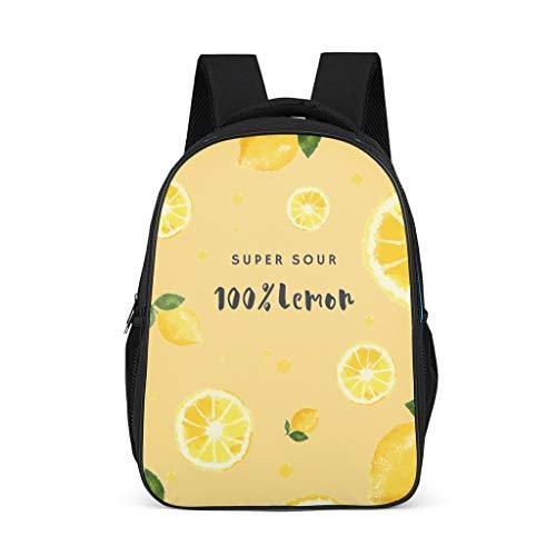 Mochila con patrón de fruta de limón bolsa ligera mochila casual para niños y niñas, color, talla Talla única