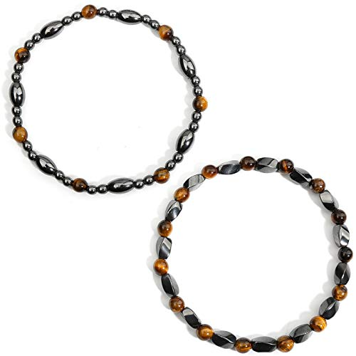 Hematite Bracelet Anklet, Anxiety Balance Root Chakra Absorbs Negative Energy, Health Care Jewelry Pain Relief Gift for Men and Women (AnkletA)