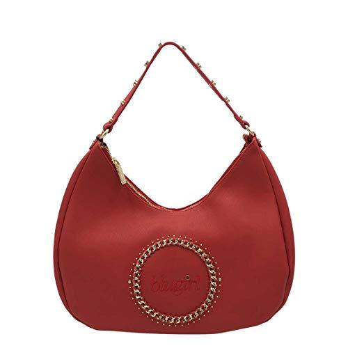Blugirl - Bolso al hombro para mujer rojo 39X33X10 CM