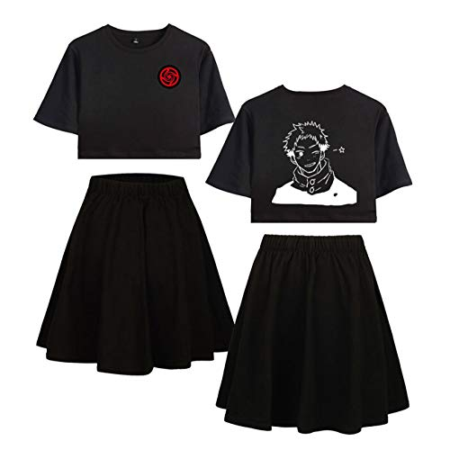 Jujutsu Kaisen Zwei Stücke Anzug weibliches kurzes T-Shirt + Minirock Sexy Pyjamas...