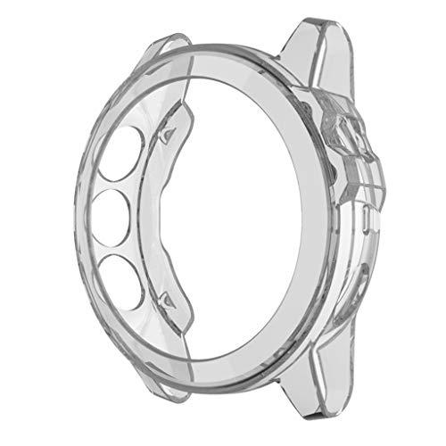 Case pour Garmin Fenix 5/5 Plus Protection Ecran Coque [1 Pack], Clair TPU Frame Couverture Complète Anti-Rayures Bumper Shell Coque pour Garmin Fenix 5/5 Plus - Transparent (Clear)