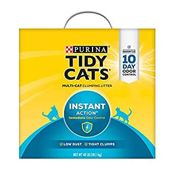 Purina Tidy Cats Instant Action Clumping Cat Litter - 40 lb Box  00070230107121