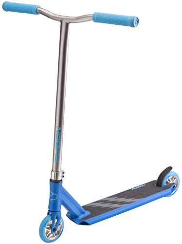 Fuzion Z250 Pro Scooter - All 4.37' x 20.5' Deck Dimensions - 110mm Aluminium Core Wheels - HIC Compression System -Chromoly T-Bars (2018 Blue)