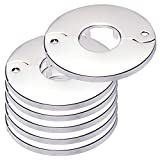 Floor and Ceiling Plate Split Flange, Fits 1 Inch IPS Galvanized Pipe or 1-1/4 Inch Copper Pipe, Chrome Finish (Pack of 6)