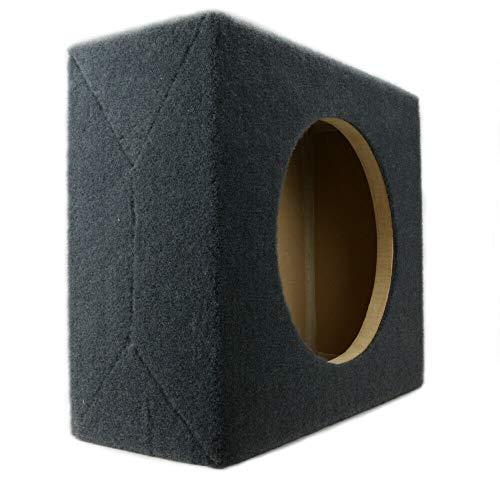 Shallow-Mount MDF Sub Woofer Enclosure Box [Black] for Single JL Audio TW3 Car Subwoofer | ¾ Premium MDF Construction | Made in U.S.A. (10' TW3 Sealed)