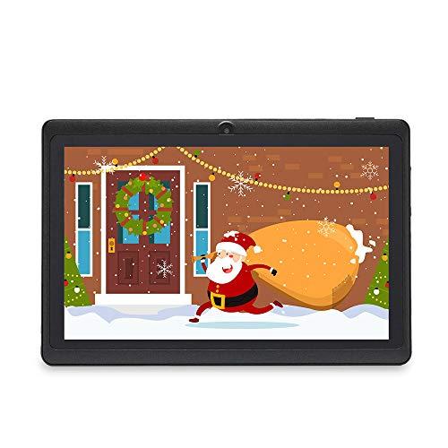Haehne 7 Pollici Tablet PC, Android 9.0 Certificato da Google GMS, 1GB RAM 16GB ROM Quad Core, 1024*600 HD, Doppia Fotocamera, WiFi, Bluetooth, per Bambini e Adulti, Nero
