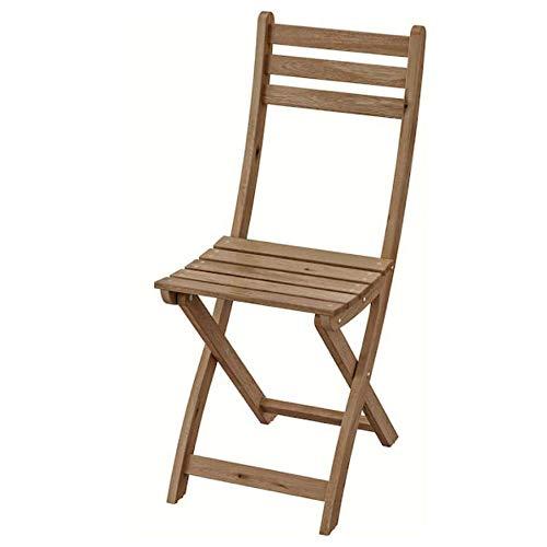 Ikea Askholmen silla al aire libre gris-marrón plegable gris-marrón manchado marrón claro 502.400.31
