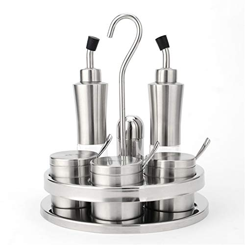 RBH Sieben-teiliges Gewürzglas für die Küche, kreatives Gewürzregal aus Edelstahl, leichte, tragbare Aufbewahrungsprodukte für die Küche - für Küche, Hotel, Restaurant