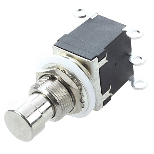 TOOGOO(R) Interruptor 6 Botones DPDT momentaneo Interruptor de pedal del pie para Guitarra AC 250V / 125V 2A / 4A