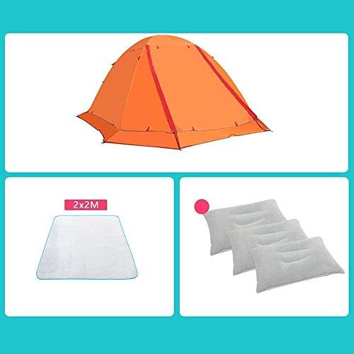 Cfbcc Persenning Camping Zelte, Outdoor-Ultra-Light verdickte warme Doppelschicht regendicht Aluminiumpfosten Kletter Zelt Zelt (Color : D)