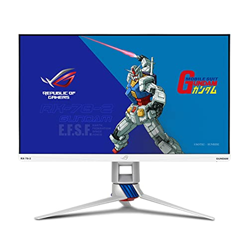 "ASUS ROG Strix 27"" 2K HDR Gaming Monitor (XG279Q-G) GUNDAM EDITION - WQHD(2560 x 1440), Fast IPS, 170Hz, 1ms, G-SYNC Compatible, Extreme Low Motion Blur Sync, Eye Care, DisplayPort, Dual HDMI, USB 3.0"
