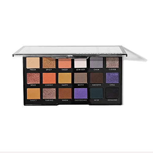 elf Opposites Attract Eyeshadow Palette 18 Pan Creamy Long Lasting Shades Highlights Defines WarmToned CoolToned Neutral Vibrant Easy To Apply 062 Oz