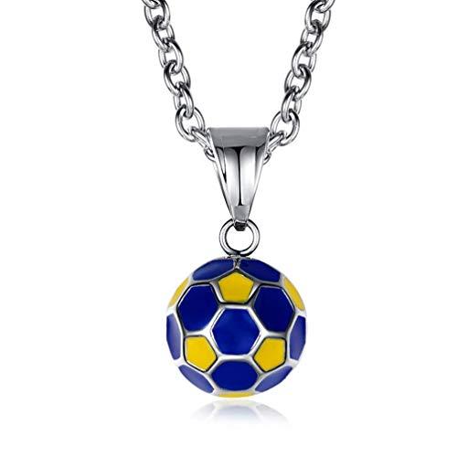 taPfPmFD El balón de fútbol Americano, fútbol Collar Colgante de la Bola de fútbol para los Hombres y los niños de 3 Colores