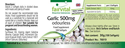 Knoblauch geruchlos 500mg 100 Softgels - 3