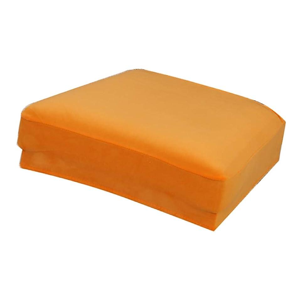 ボランティア着服銅チェアカバー 椅子カバー ストレッチチェアカバー 座面カバー 伸縮素材 滑り止め 天鵞絨 全12色 - オレンジ